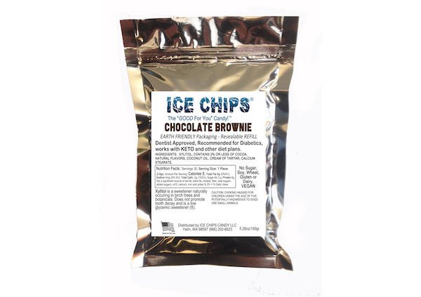 ICE CHIPS® Chocolate Brownie Xylitol Candy