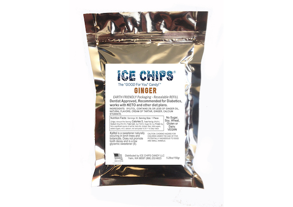 ICE CHIPS® Ginger Xylitol Candy