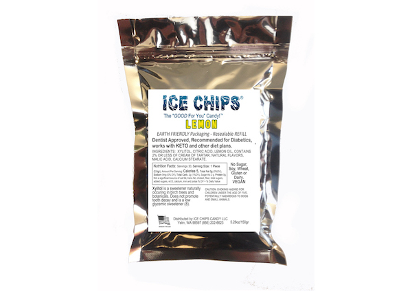 ICE CHIPS® Lemon Xylitol Candy