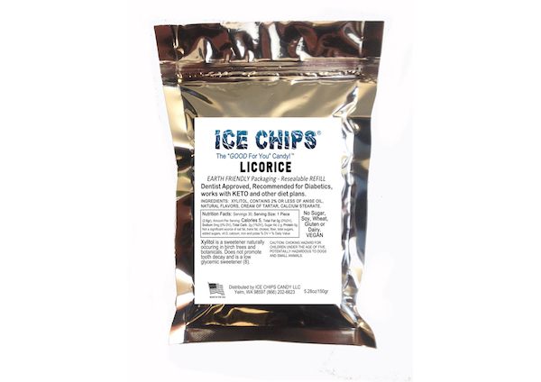 ICE CHIPS® Licorice Xylitol Candy