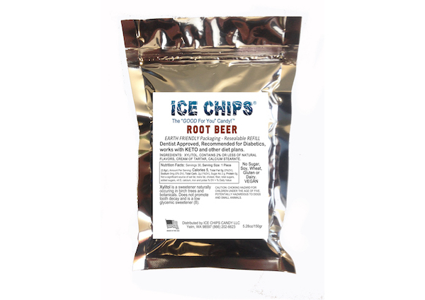 ICE CHIPS® Root Beer Float Xylitol Candy