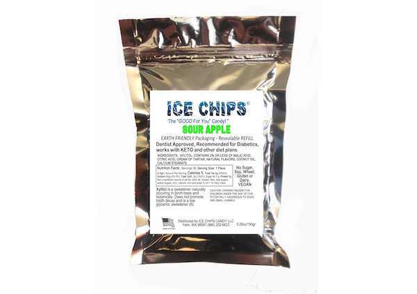 ICE CHIPS® Sour Apple Xylitol Candy