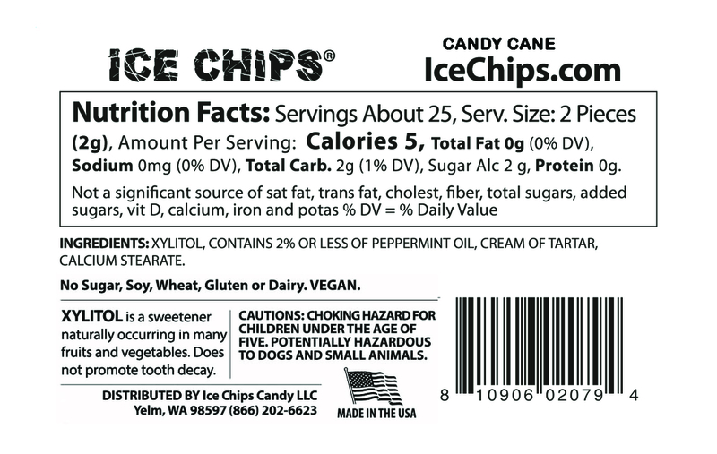 ICE CHIPS® Candy Cane Xylitol Candy