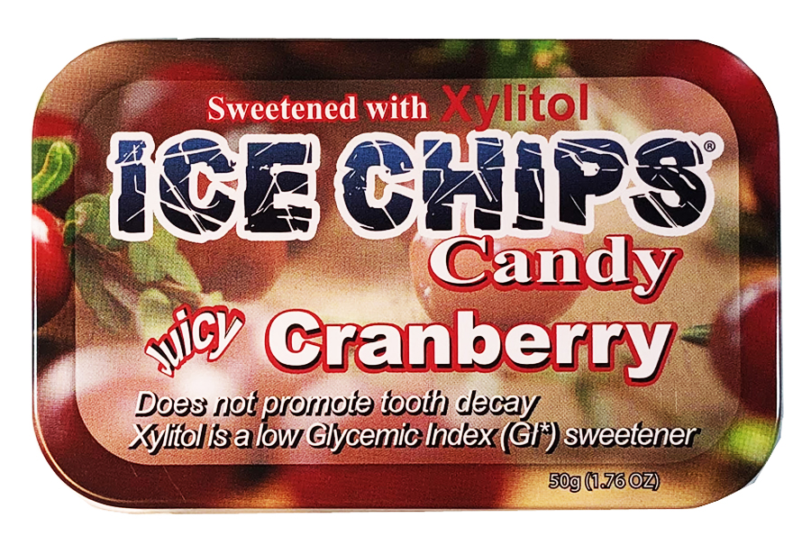 ICE CHIPS® Cranberry Xylitol Candy