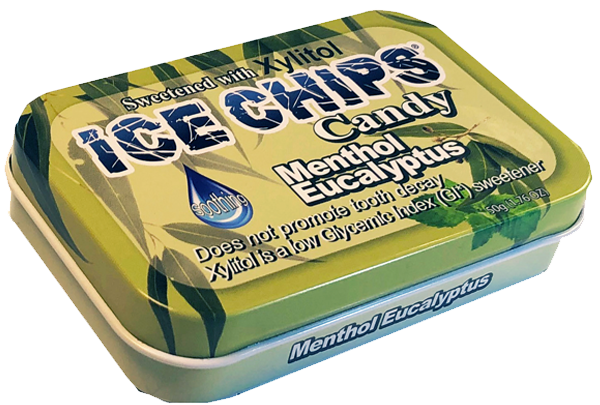 ICE CHIPS® Menthol Eucalyptus Xylitol Candy